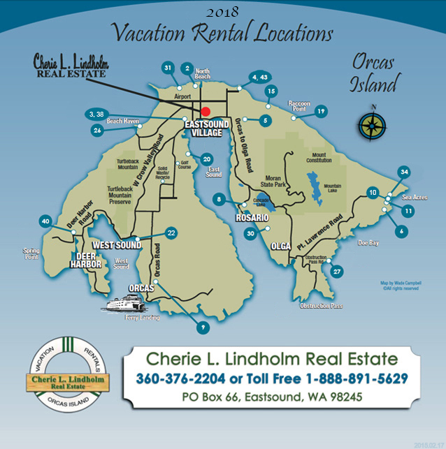 Apartment Rent Map: Orcas Island Vacation Lodging: Find Your Rental